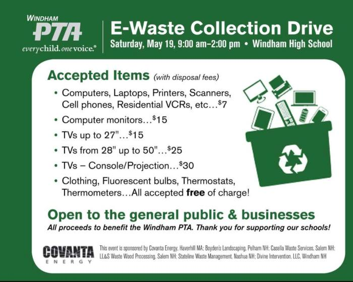 2018 pta electronics recycling event