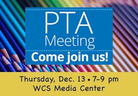 PTA meeting 12.18